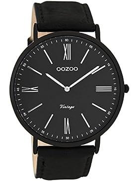 Oozoo Unisex-Armbanduhr Analog Quarz Leder C7349