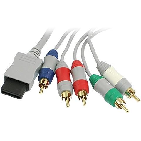 AV Cable Componente para WII - SODIAL(R)RCA YPbPr Cable AV componente de audio y video 1.7m para Nintendo WII