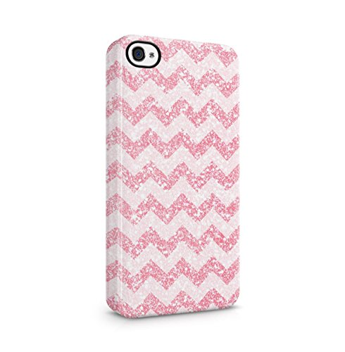 Golden Chevron Zigzag Pattern Print Apple iPhone 5 , iPhone 5S , iPhone SE Snap-On Hard Plastic Protective Shell Case Cover Custodia Pinky Chevron