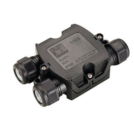 Preisvergleich Produktbild SLV 3fach Verbindungsbox Kabelverbinder Verbindungsmuffe für Erdkabel IP68