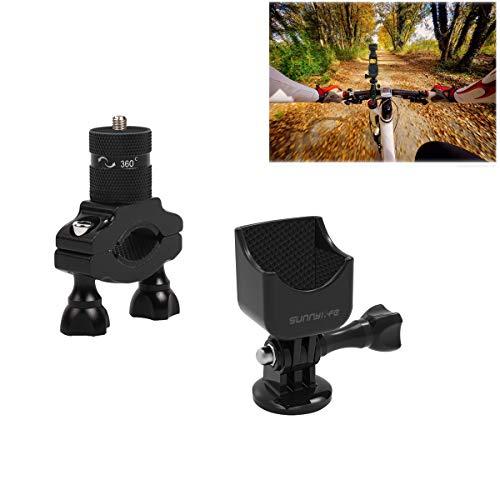 Tineer Aluminiumlegierung Fahrradhalterung Halterung für Stabilisatoradapter für Fahrradhalterung für DJI OSMO Pocket Handheld-Gimbal-Kamera-Zubehör