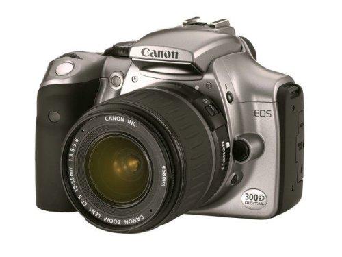 Canon EOS 300D SLR - Fotocamera digitale da 6,3 Megapixel con obiettivo EF-S f1:3,5-5,6/18-55 mm