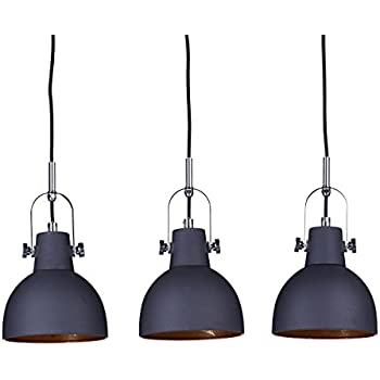 relaxdays luminaire suspension glocca lampe de plafond avec 3 ampoules h x l x p 134 x 24 x 24. Black Bedroom Furniture Sets. Home Design Ideas