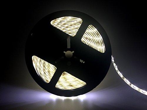 bsod 24V Flexible LED de luces de rayas, impermeable IP65String, banda de LED SMD 3528luz 16.4ft/5m Super Brillo 300LED flexible banda, blanco cálido, andere 24.0 volts