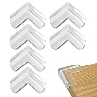 nuoshen 8 Pcs Baby Safety Corner Protectors, Corner Protectors for Kids Child Table Furniture Protection with Adhesive Tape