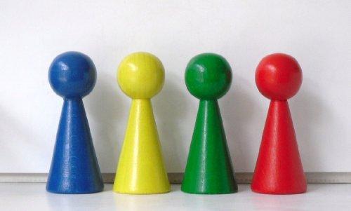 4 Figurenkegel , Spielfigur , Halmakegel