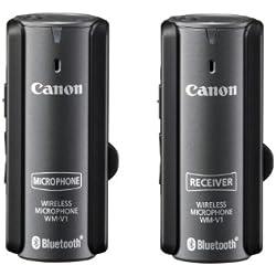 Canon WM-V1 - Micrófono externo para videocámara Canon VIXIA HF G10/VIXIA HF, negro