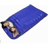 Krx Saco de Dormir Doble Exterior Saco de Dormir para Adultos de una Pareja de Adultos