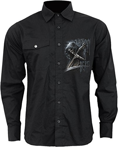Spiral -  Camicia Casual  - Uomo Black Medium