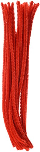 tional 6mm Chenille Vorbau–Rot (25Stück) (Chenille-vorbau)
