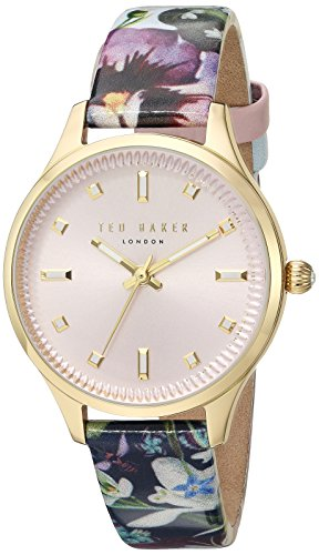 Ted Baker Women's 'ZOE' Quartz Stainless Steel and Leather Dress WatchMulti Color (Model: 10031555)