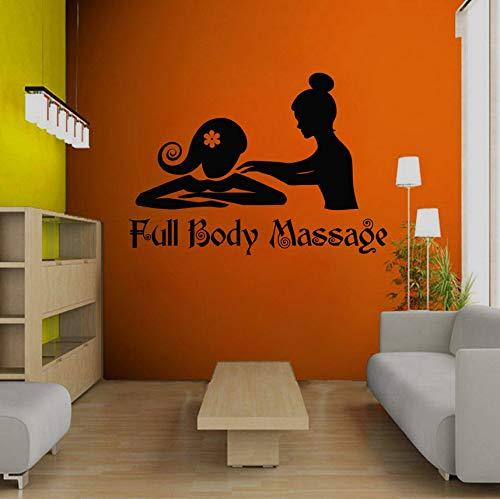 Ganzkörpermassage Massage Schaufenster Skulptur kreative Wandaufkleber schwarz 40x57cm