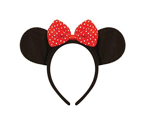 t roter Schleife Head Band für Disney Fancy Kleid Party Hen Night (Minnie Maus Party-ohren)