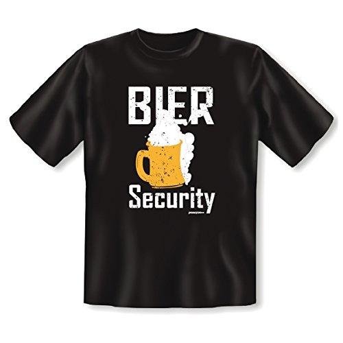 Bier Security! Witziges Fun T-Shirt - Tolle Geschenkidee Schwarz
