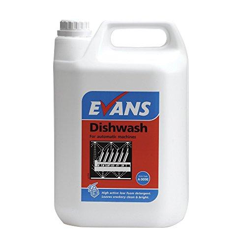 Automatische Waschmittel Geschirrspüler (Evans vanodine bbv070–5Dish Wash für automatische Maschinen, 5l (2Stück))