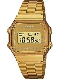 f49124661297 Casio correa de reloj A168WG-9BWEF   A168WG-9BW Acero Dorado 18mm(Sólo