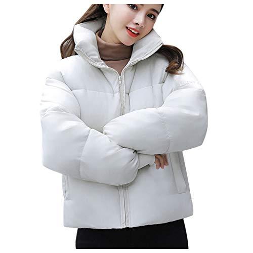 Baiomawzh Wintermäntel Damen Classic Lange Ärmel Lässig Volltonfarbe Full Zip Mit Taschen Rollkragen Herbst Winter Warm Outdoor...