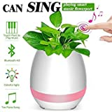 True Store: NEW Best Bluetooth Flowerpot speaker with Music and light Flowerpot,Smart Plant Pots,Touch Music Plant Lamp With Rechargable Wireless Bluetooth Speaker , Led Night Light and compatible with all leading smart phones and ios.