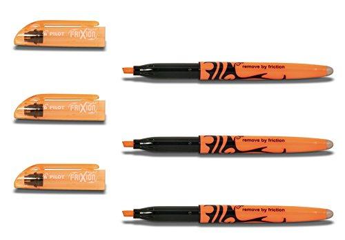 Pilot Textmarker radierbar (3 Stück, Orange)