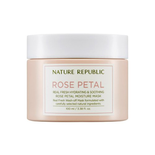 [Nature Republic] Real Fresh Rose Petal Moisture Mask 100ml