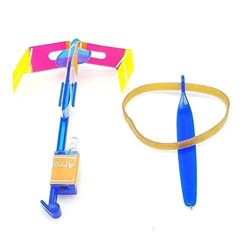 32Stk Pfeil Rakete Copters Licht Hubschrauber Fliegen Spielzeug mit elastischer angetriebener Schleuder Random Color LED Toy and Games