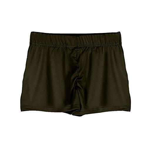 TWIFER Sommer Sport Shorts Fitness Damen Workout Bund Dünne Yoga Kurze Hosen (Lila Wildleder-boot)