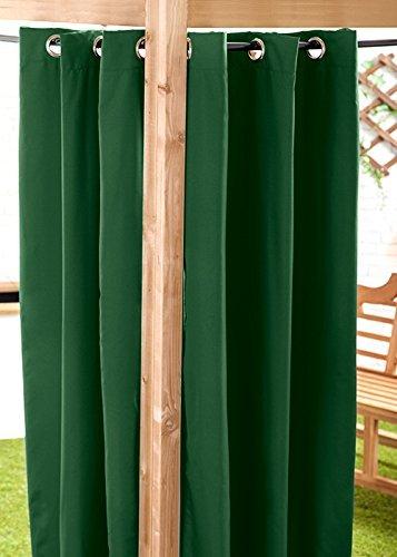 Grün Wasser bereit beständig, Made Outdoor Öse Vorhang 139,7x 304,8cm Pavillon Summer House