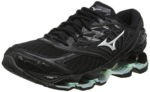Mizuno Wave Prophecy 8, Scarpe da Running Donna, (Black/Silver/Brookgreen 15), 6.5 EU
