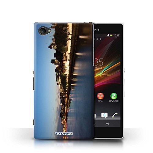 Kobalt® Imprimé Etui / Coque pour Sony Xperia Z1 Compact / Big Ben conception / Série Londres Angleterre Rivière Thames