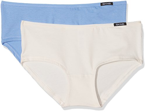 Skiny Damen Panties Advantage Cotton Panty 2er Pack, 2er Pack, Mehrfarbig (Ceramic Blue Selection 1266), 38 (Baumwoll-mischung Feiner)