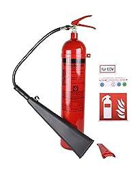 Feuerlöscher CO2/Kohlendioxid GS-5x B, 5kg mit Instandhaltungsplakette