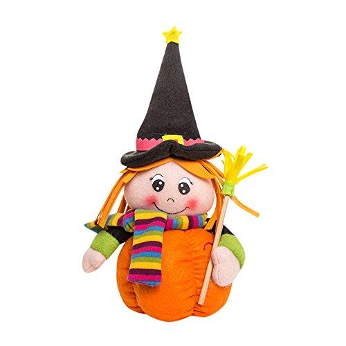 Spielzeug, Frashing Fröhliches Halloween Dekoration!!! Plüsch Kürbis Mädchen Puppen Kinder Spielzeug Halloween Geburtstag Geschenk Hausdekor (Marionette Puppe Halloween Kostüm)