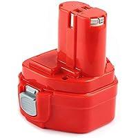 Eagglew 12V 3.0Ah Ni-MH Batería de Repuesto para Makita 1220 1200 PA12 1222 1233 1234 192598-2 192681-5 Rojo
