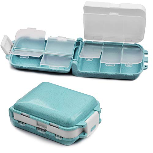 ANDERK Tablettenbox Pillenbox Pillendose Klein für Unterwegs
