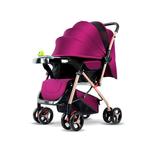 HBGGGGG Kinderwagen, Sonnensegel, atmungsaktives Schiebedach, Aluminiumrahmen for die Luftfahrt, leichtes, hohes Landschaftsdesign, durch Sitzlehnenwinkel verstellbar (Color : E) -