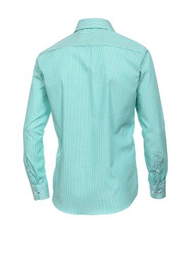 Casa Moda, Herren langarm Hemd, ,Popeline bügelfrei,smaragdgrün weiss [17532] smaragdgrün weiss