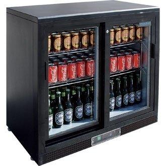 Winware Doppel Schiebetür Bar Display Flaschenkühler