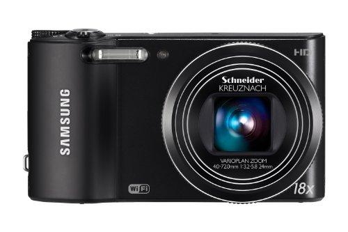 Samsung WB150F Smart-Digitalkamera (14 Megapixel, 18-fach opt. Zoom, 7,6 cm (3 Zoll) Display, bildstabilisiert, Wifi) schwarz Samsung 720p Lcd