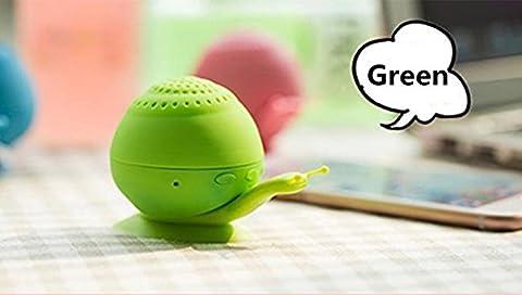 Mini son support Chickwin nouveau support de téléphone ventouse escargot mini haut-parleur portable Bluetooth Bluetooth créatif audio (Vert)