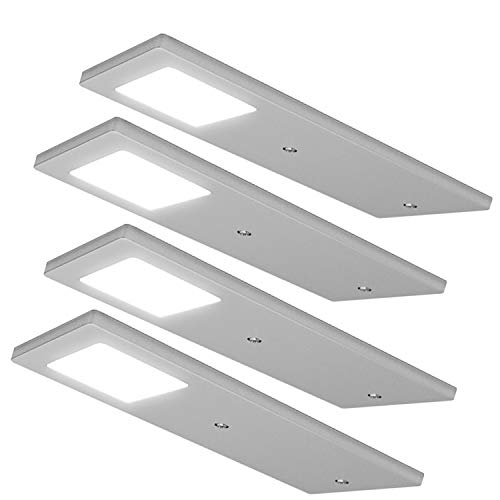 4x 5W Küchenschrank Low Profile / Slim Panel Light & Driver - Natural White - Flush -