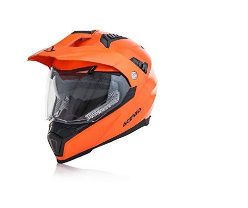 Acerbis casco flip fs-606 arancio fluo