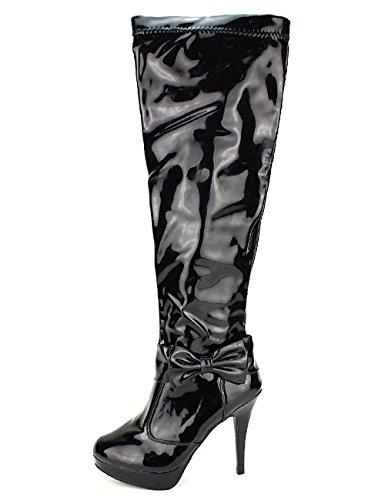 Cendriyon Semi Cuissardes Vernies Noires CINKS Me Chaussures Femme Noir