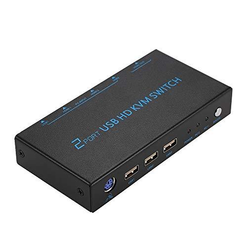 Universal 2-Port-USB-HD-KVM-Switch unterstützt 4K-Videoauflösung für PC-Monitor-Tastatur und -Maus 2 Automatische Koaxial-schalter