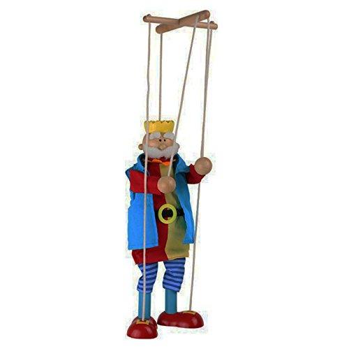 Small Foot by Legler Marionette König aus Holz, mit Schnüren an einem Holzkreuz befestigt, schult spielerisch die Fingerfertigkeit und Motorik, das Kasperletheater kann losgehen und die Kleinen begeistern