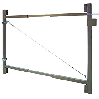 Fence Walk Through Gate Kit - Adjust-A-Gate Steel Frame No Sag Gate Building Kit - This anti-sag gate kit is perfect for repairing existing sagging gates or building new ones. (60-96 wide openings up to 4' high fence) by Adjust-A-Gate