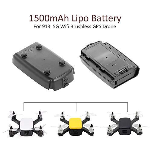 Godyluck Batería de 7.4V 1500mAh LiPo para 913 1080P 5G WiFi Drone GPS sin Cepillo Quadcopter
