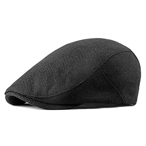 Amorar Schirmmütze Herren Schiebermütze Flatcap Newsboy Cap Baskenmütze Barett Cap aus Baumwolle Schlägermütze Für Frühling und ()
