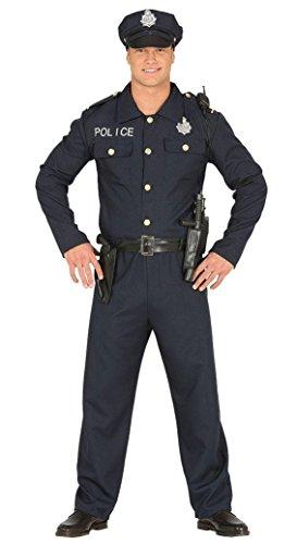 Größe 52-54 (L) (Polizist Halloween Kostüm Für Männer)