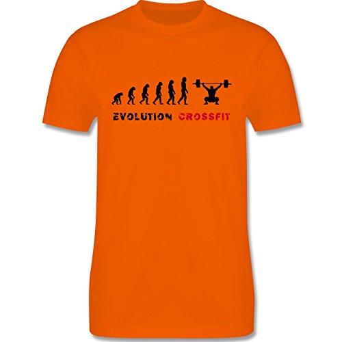 Evolution - Evolution Crossfit - Herren Premium T-Shirt Orange