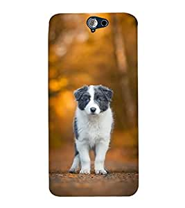 FUSON Puppy Love Dog 3D Hard Polycarbonate Designer Back Case Cover for HTC One A9